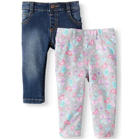 4c24a90123f4b Garanimals - Printed Jeggings & Skinny Jeans, 2-pack (Baby Girls) -  Walmart.com