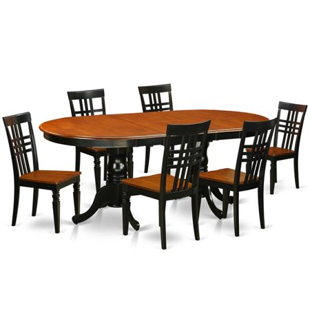 Table Chair Set With One Plainville Dining Room Six Chairs Black Cherry 7 Piece