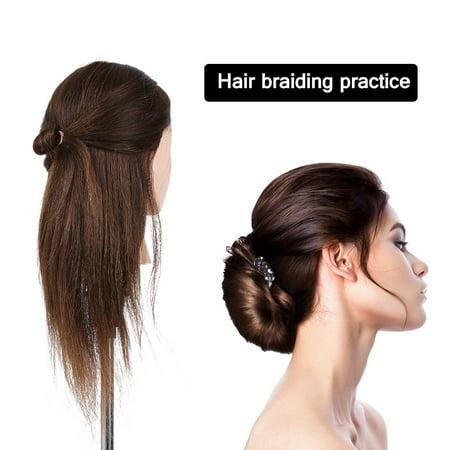 "20"" Mannequin Head Hairdressing Training Head Hair Braiding Practice Dummy Head High Temperature Fiber Head Model - image 3 of 4"