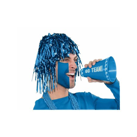 Blue Tinsle Wig Halloween Costume Accessory](Costume Blue Wig)