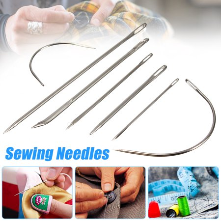 3 Pack Repair Curved Hand Sewing Needles Kit Tool For DIY Upholstery Carpet Leather (Hand Applique Needles)