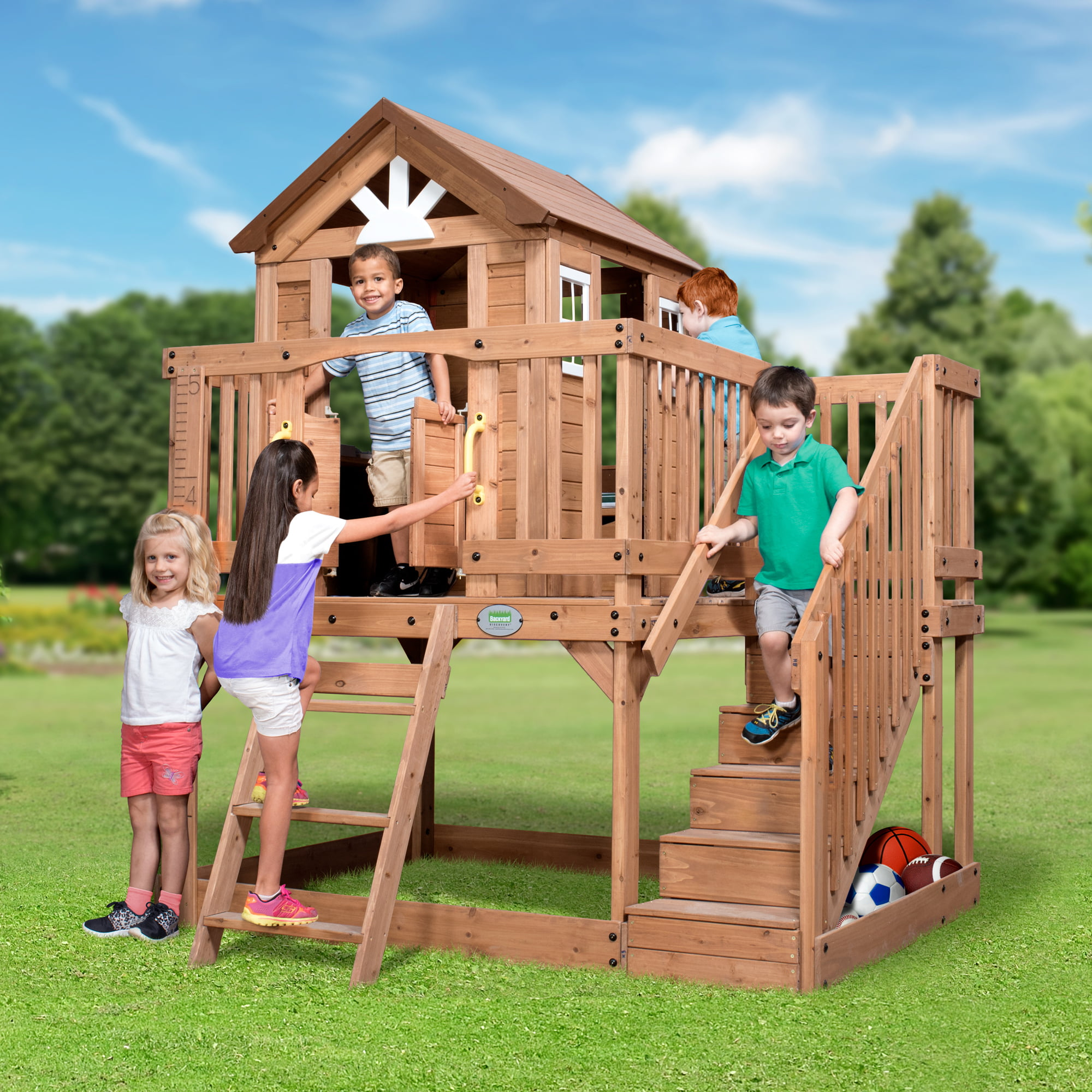 Backyard Discovery Scenic Heights Cedar Playhouse by Backyard Discovery