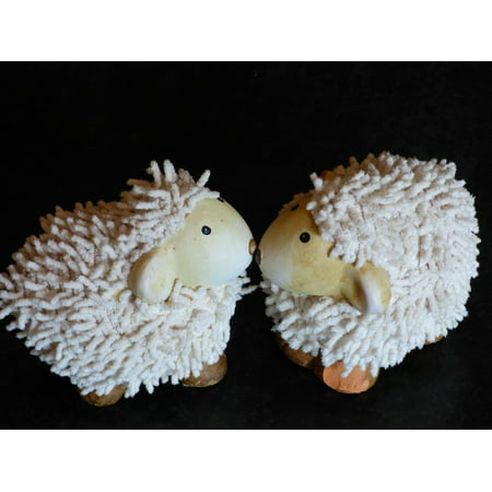 LAMINATED POSTER Cute Soft Toy Teddy Bear Toys Sheep Pair Poster Print 24 x 36
