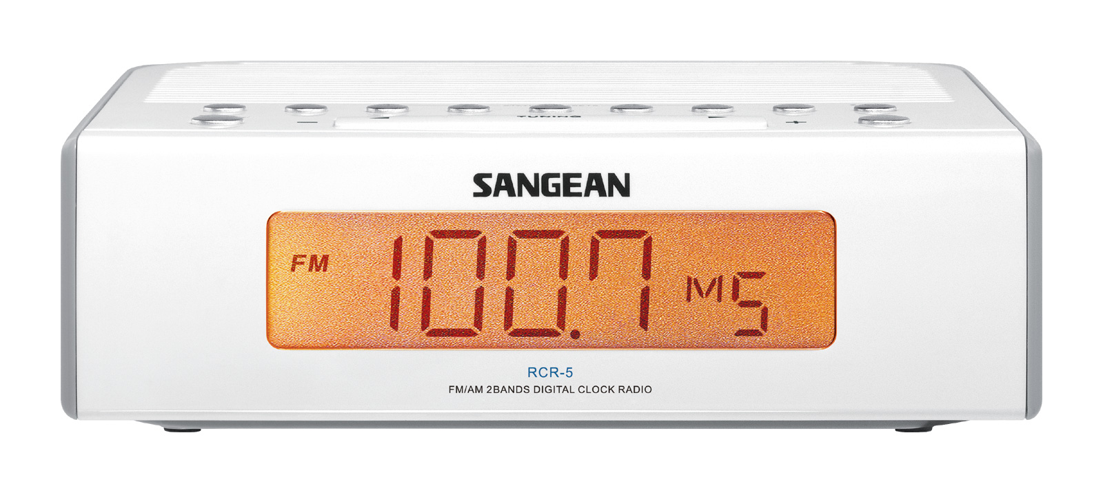 Sangean Compact AM FM Dual Alarm Clock Radio with Large Easy to Read Backlit LED Display Plus 6ft Aux Cable to Connect... by Sangean