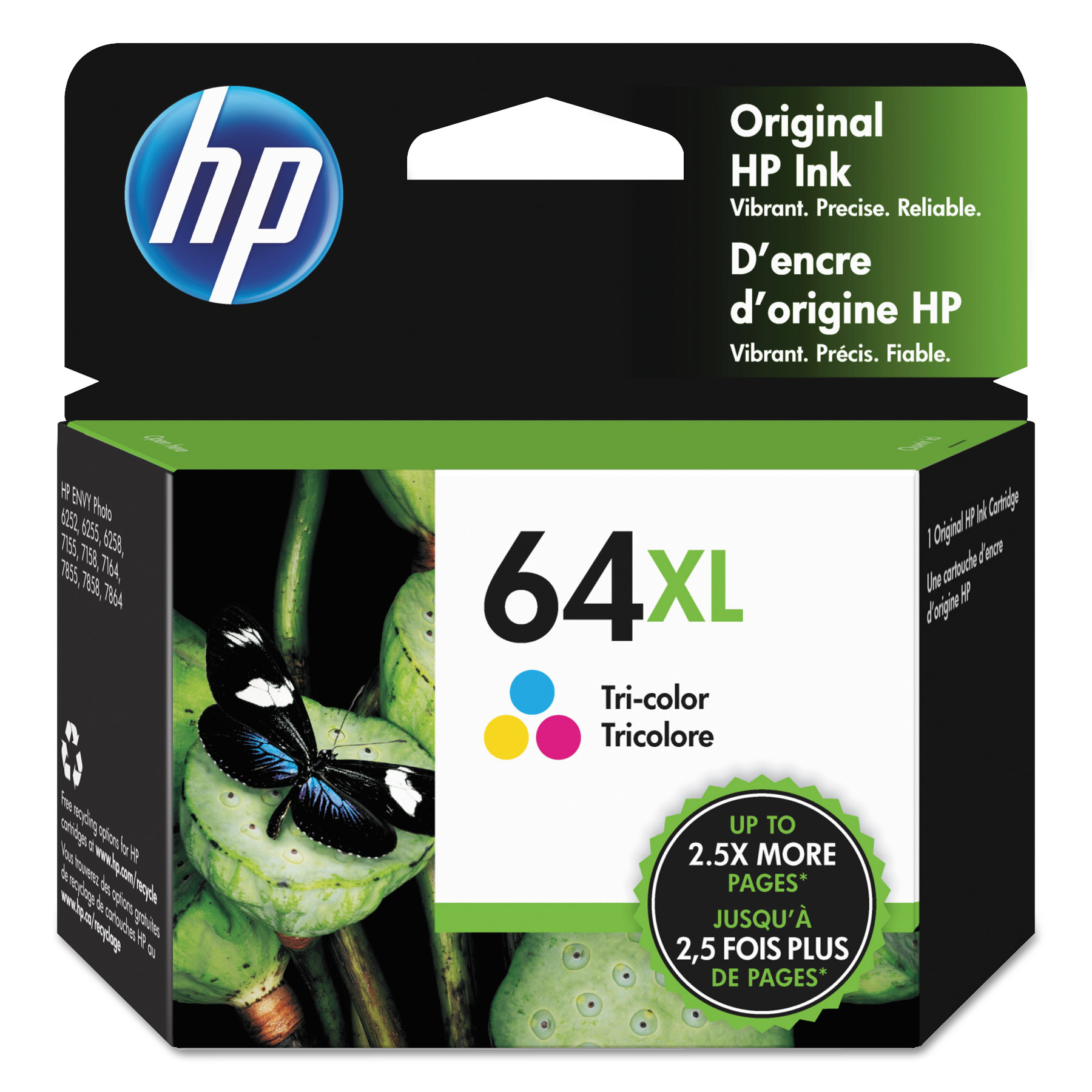 HP HP 64XL Tri-Color High Yield Original Ink Cartridge, 415 Page-Yield