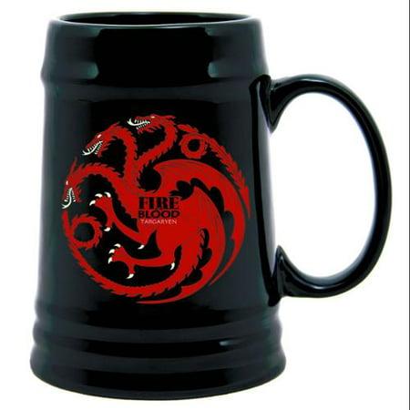 Stein Pimp Cup - Game Of Thrones 22 Oz. Ceramic Stein Targaryen