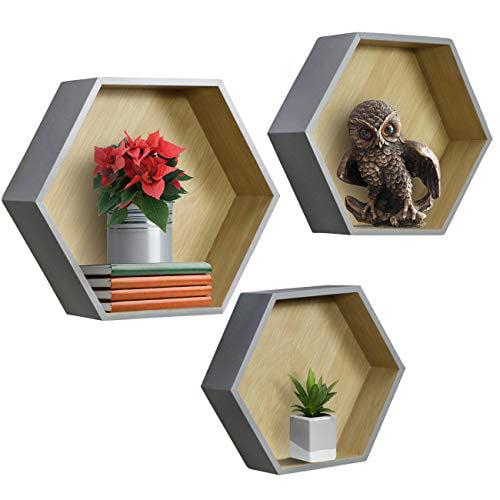 Sorbus Floating Hexagon Shelves