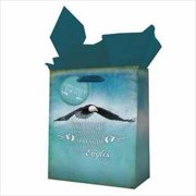 Christian Art Gifts 360426 Gift Bag Soar Like Eagles With Tag & Tissue Small