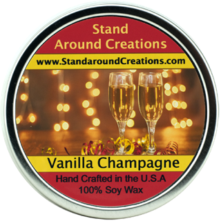 VANILLA CHAMPAGNE TIN 16-OZ. ALL NATURAL SOY CANDLE