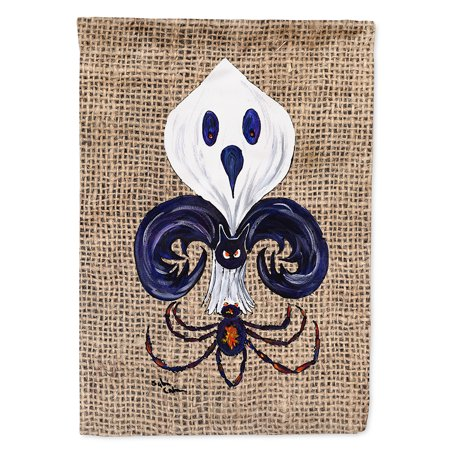 Bat Garden - Halloween Ghost Spider Bat Fleur de lis Garden Flag