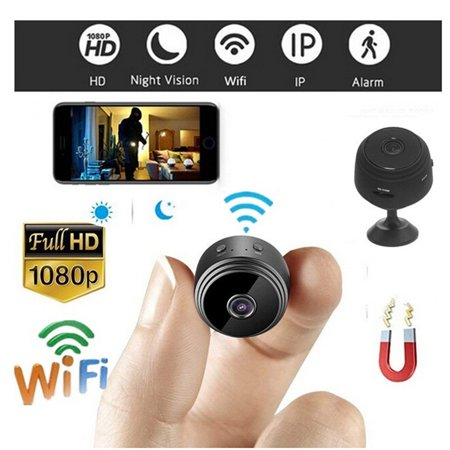 Iuhan A9 HD 1080P Mini Camera Wireless Wifi Security Cam Night Vision Motion Detects (Indoor Camera Hidden)