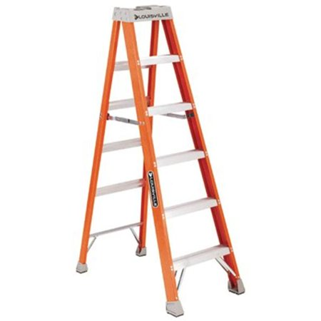Louisville 10 foot Type IA Duty Rating 300 lbs. Load Capacity Fiberglass Step Ladder, FS1510
