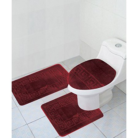 3 Piece Bath Rug Set Pattern Bathroom 20 X32 Large