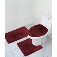 Product Image 3 Piece Bath Rug Set Pattern Bathroom 20x32 Large