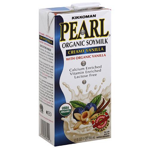 Kikkoman Pearl Organic Creamy Vanilla Soymilk, 32 oz (Pack of 12)
