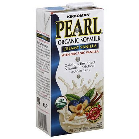 Kikkoman Pearl Organic Creamy Vanilla Soymilk, 32 oz (Pack of 12) ()