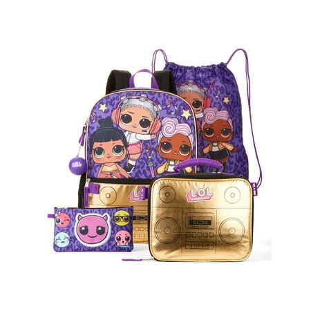 LOL Surprise! Hip Hop Club 5-Piece Backpack Set