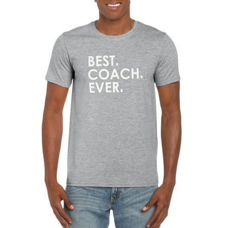 Best Coach Ever T-Shirt Sports Dad Funny Gift Idea for