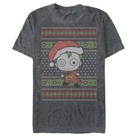 Batman Men's Chibi Joker Ugly Christmas Sweater Vintage Wash T Shirt ()