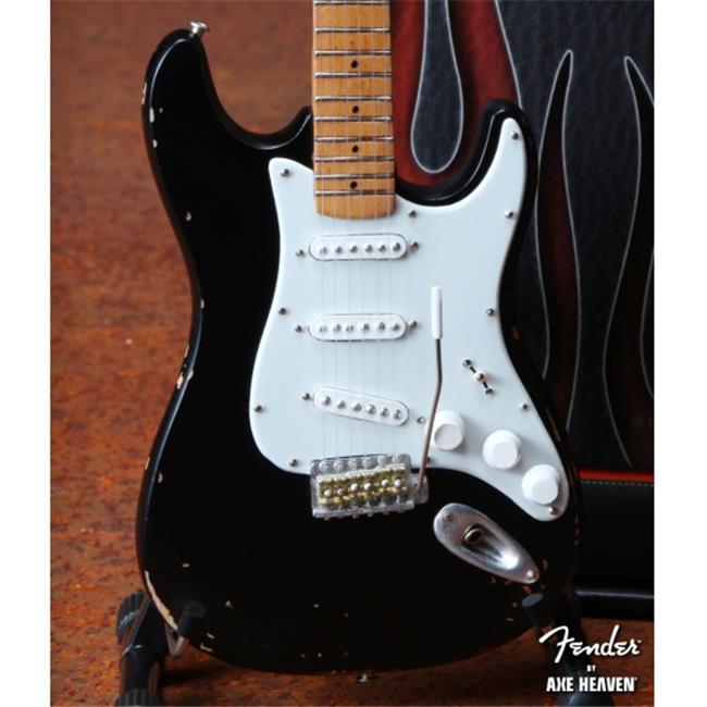 AXE HEAVEN FS-003 Licensed Fender Strat - Black - Vin. Distressed