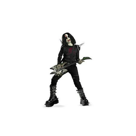 Disguise Boys Metal Mayhem Rotten Rocker Zombie Costume As Shown  Child Size... - Zombie Halloween Makeup Boy