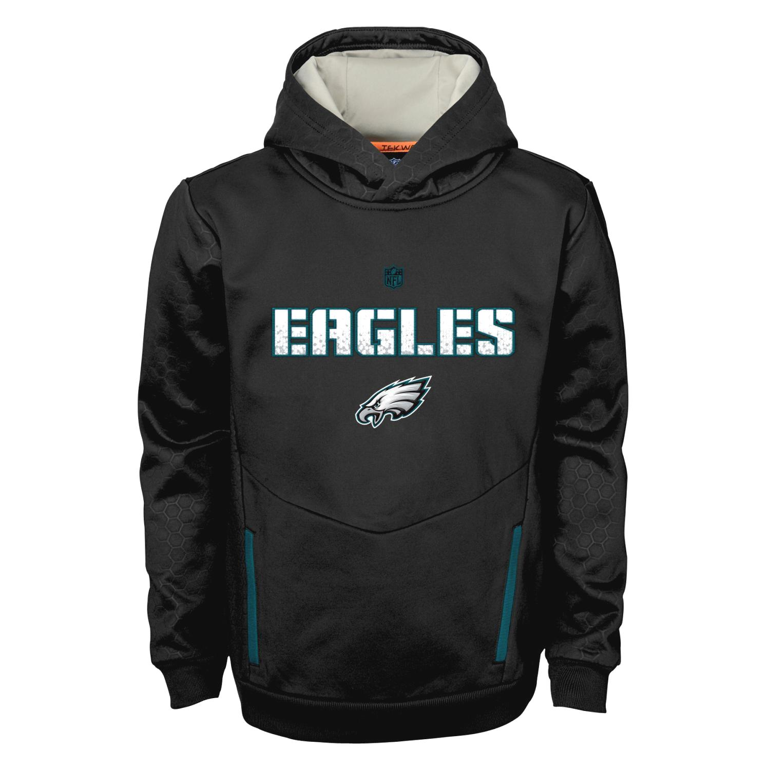 "Philadelphia Eagles Youth NFL ""Shadow"" Pullover Hooded Sweatshirt"