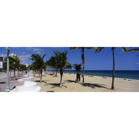 USA Florida Fort Lauderdale Beach Stretched Canvas - Panoramic Images (27 x 9)