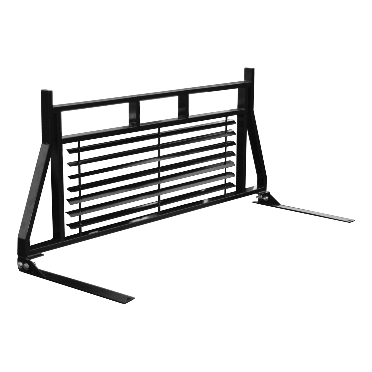 ARIES 111001 99-13 FORD SUPERDUTY (LARGER, MULTI-FIT BLACK) HEADACHE RACK - BLACK