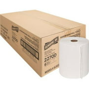 """Genuine Joe Hardwound Roll Paper Towels - 7.90"""" x 800 ft - White - Absorbent, Chlorine-free - For R"""