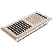Louvered Plastic Floor Register, 4 In. X 10 In., Satin Nickel