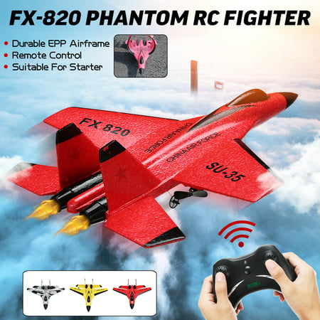 Phantom RC Toy Plane ,RC Fighter Jet Airplane FX-820 2.4G ,Remote Control Aircraft Plane Home Toy Fun Kids Toy Gift Remote Control Arf Rc Airplane