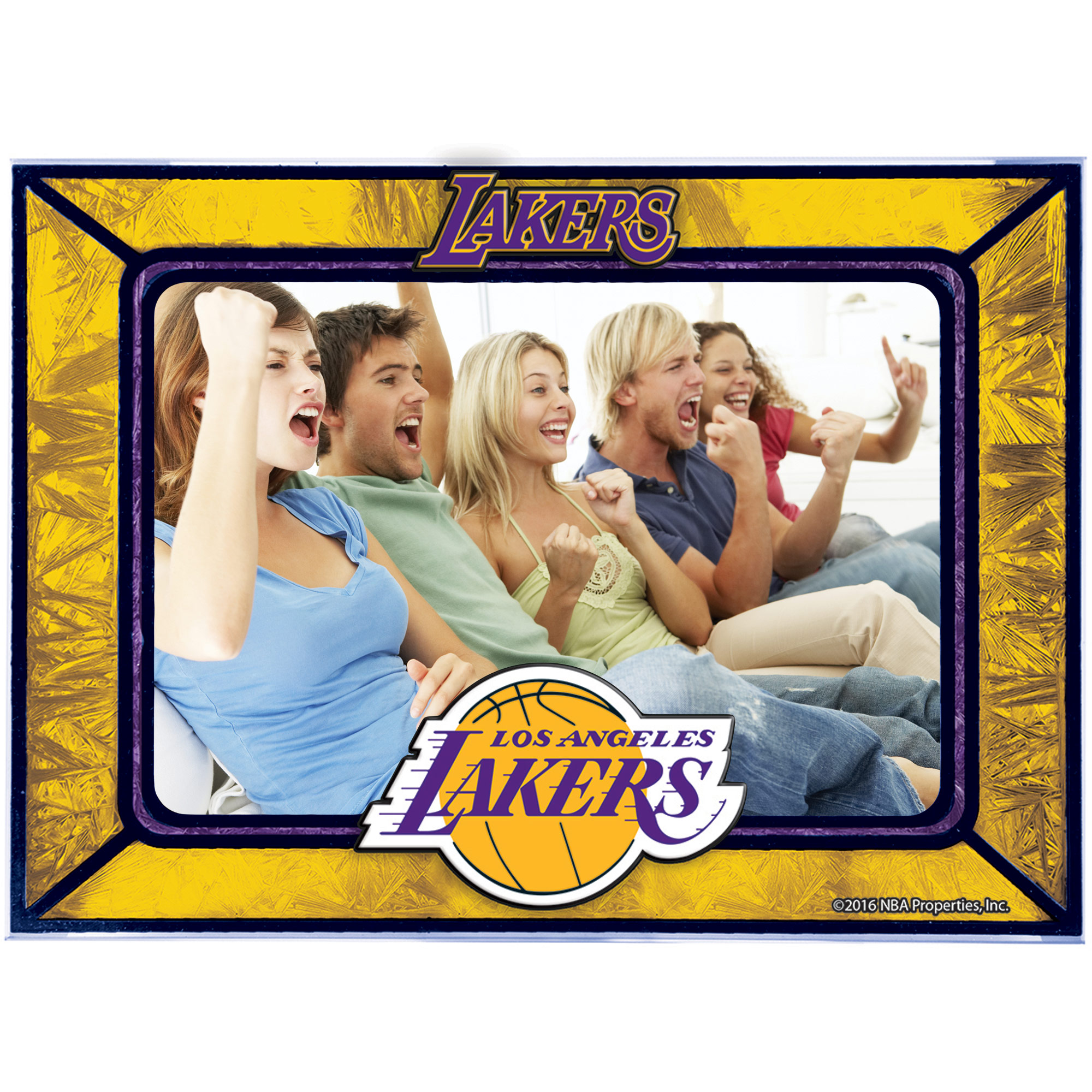 Los Angeles Lakers Horizontal Art Glass Frame - No Size