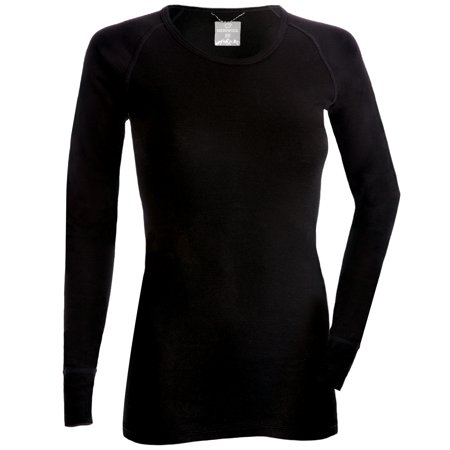 MERIWOOL Merino Wool Women's Lightweight Form Fit Baselayer Crew Pullover Top -