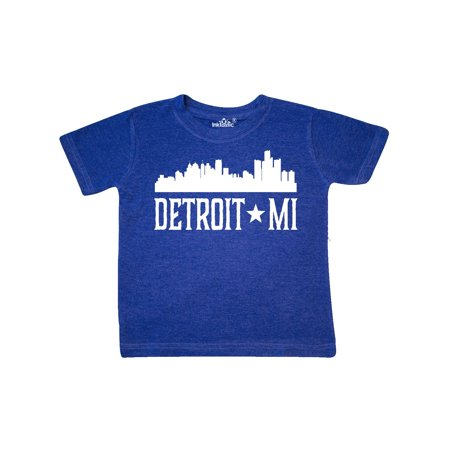 Detroit Michigan Skyline MI Cities Toddler T-Shirt - Halloween City Mi