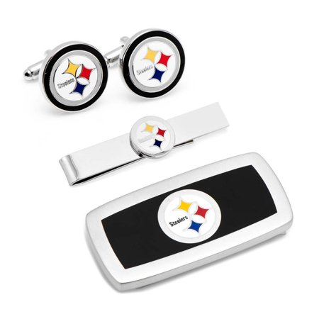 Pittsburgh Steelers 3-Piece Cushion Gift Set - Black - No (Sterling Silver Pittsburgh Steelers Cufflinks)