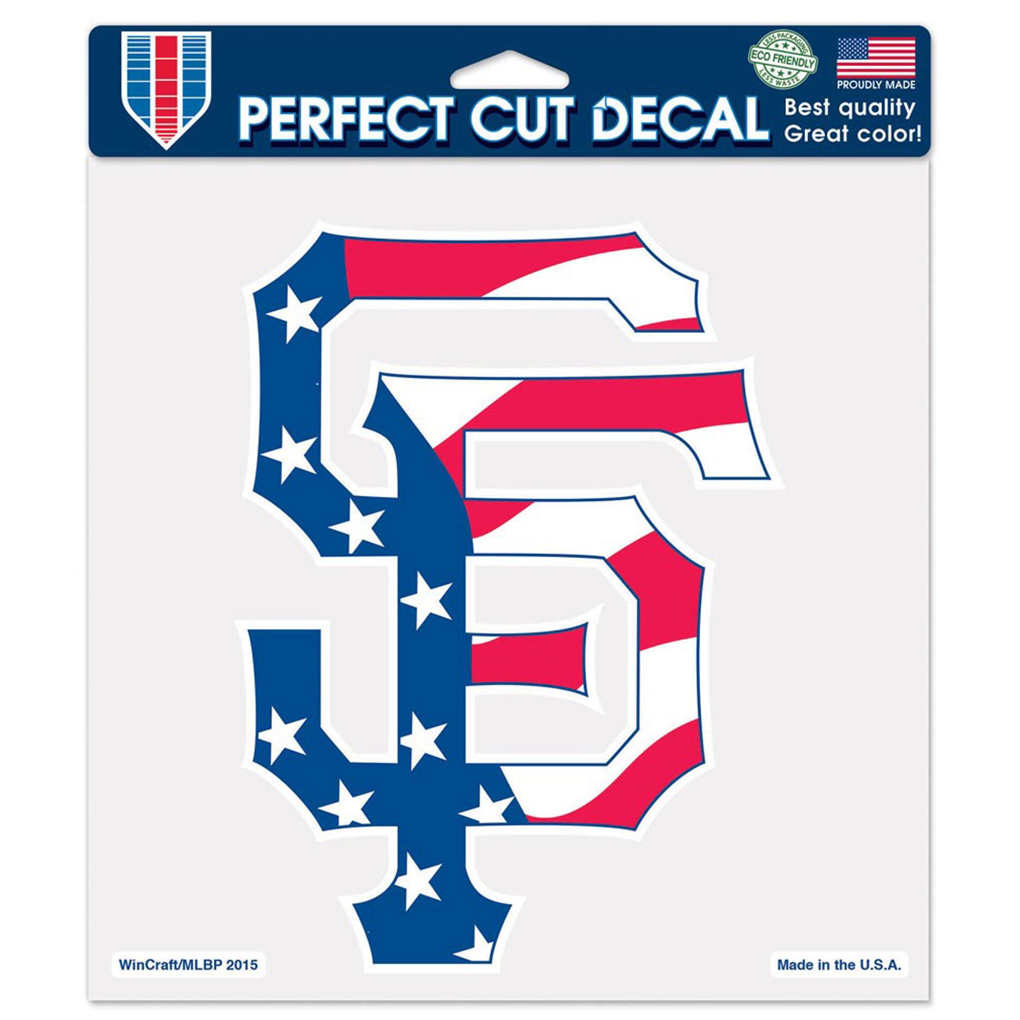 """San Francisco Giants WinCraft Patriotic 8"""" x 8"""" Color Decal - No Size"""