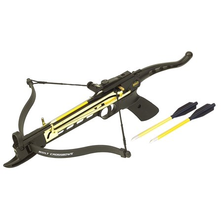 Self Cocking 80lb Pistol Tactical Crossbow 160FPS - 100 Yard Range - METAL