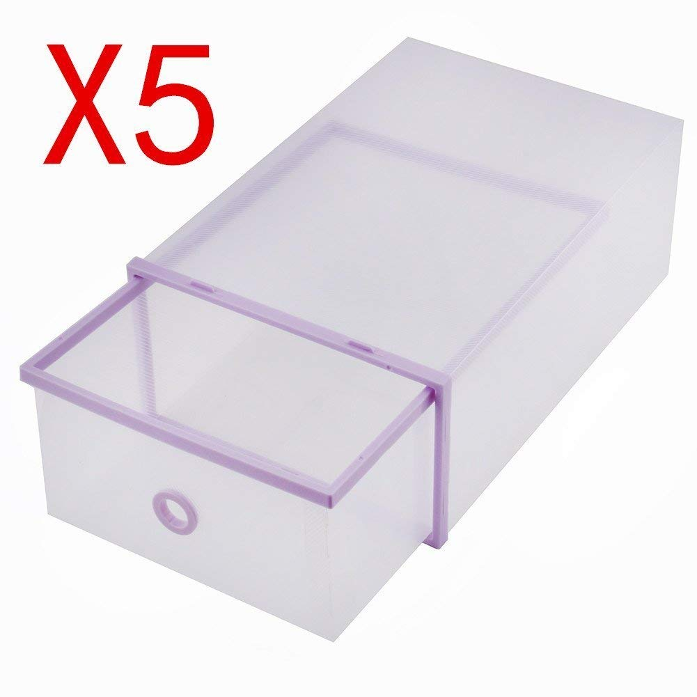 5PCS Thickened flip shoes transparent Drawer Case Plastic Shoe Boxes Stackable Box storage box shoes storage organizer