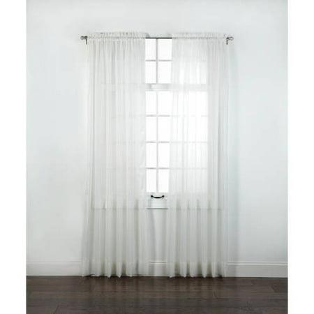 Elegance Sheer Voile Rod Pocket Window Panel