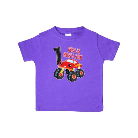 Monster Truck How I Roll 1st Birthday Baby T-Shirt