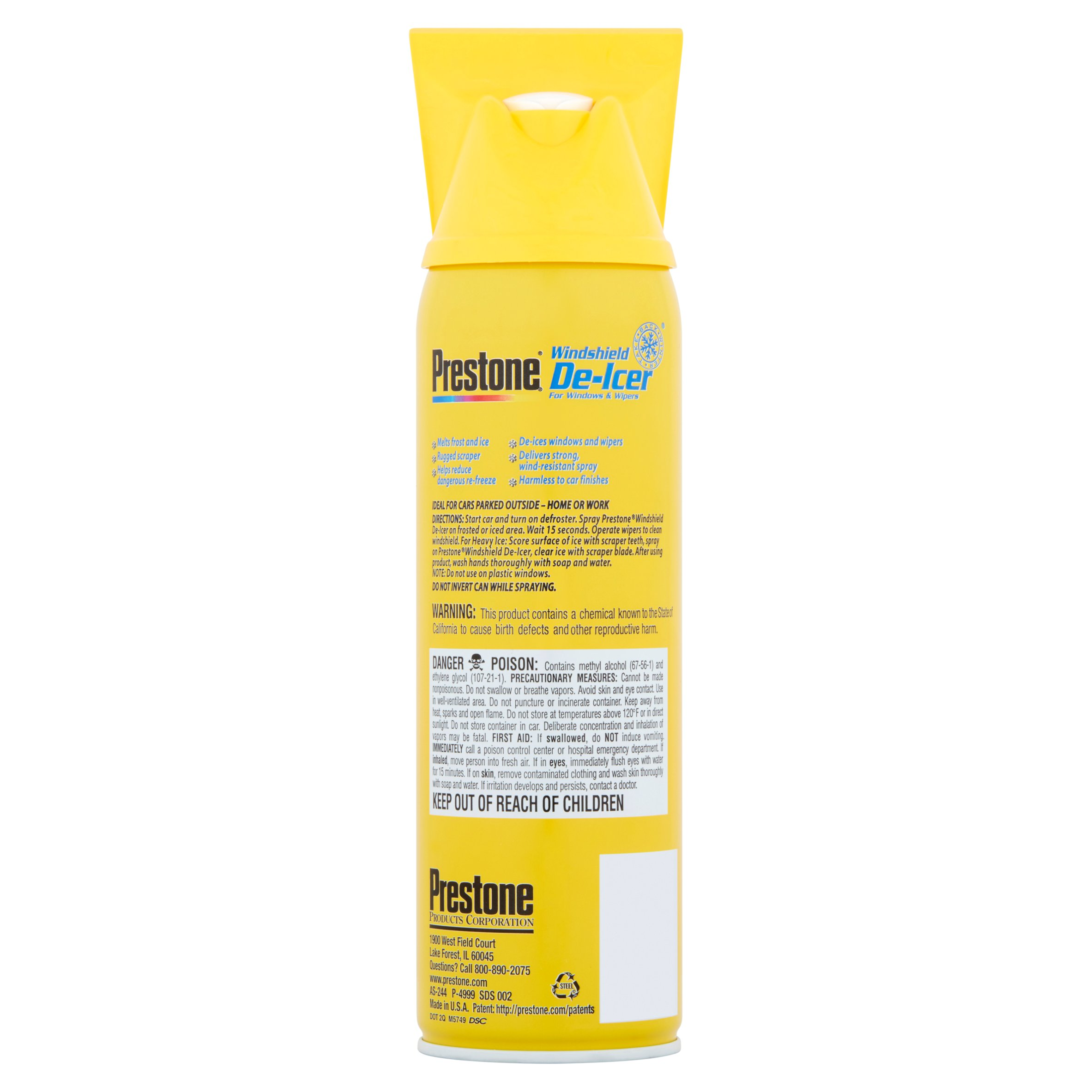 Prestone Windshield De-Icer Spray