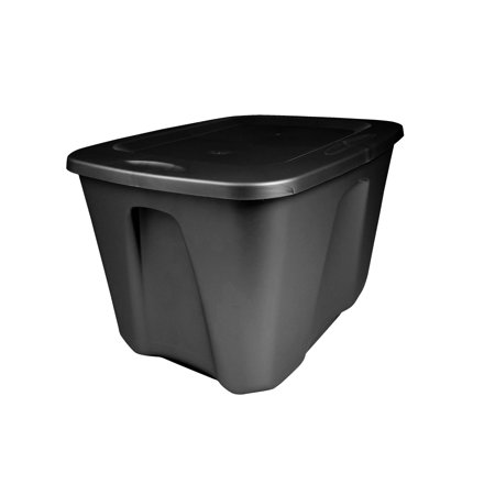 Mainstays 18 Gallon Storage Containers, Black, Set of 8