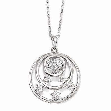 Vistar Sterling Silver Cz Dream Come True 18In  Necklace  Best Quality Free Gift Box