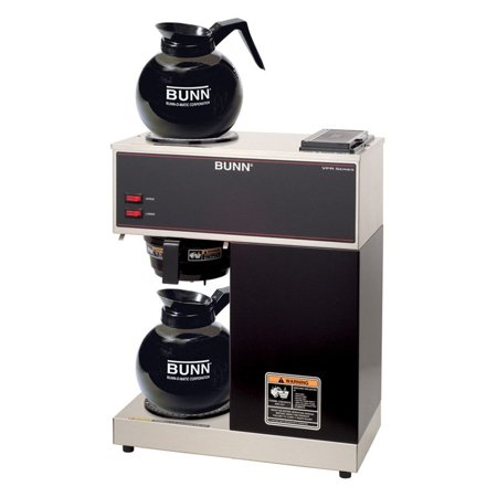 Bunn Commercial Iced Tea Maker - BUNN VPR 12-Cup Commercial Coffee Brewer with Two Glass Decanters, 2 Warmers