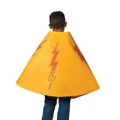 IN-13771175 Red & Yellow Superhero Reversible Cape