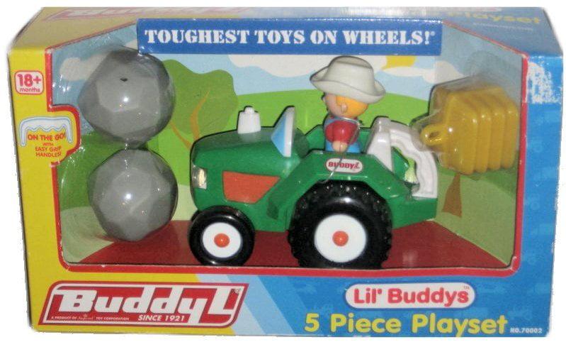 Buddy L Lil' Buddy's Green Tractor Farmer Kids Playset Toy 70002 by Buddy L