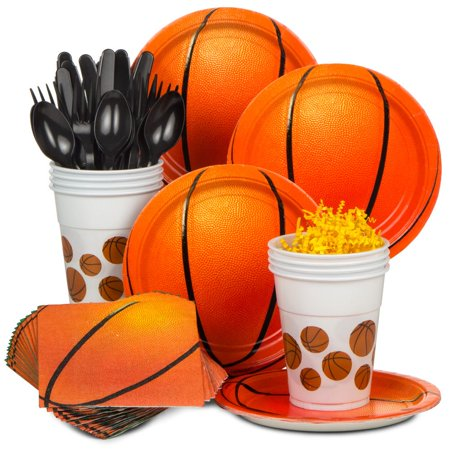 Basketball Party Standard Kit (Serves 8) - Party Supplies - Baskets Wholesale