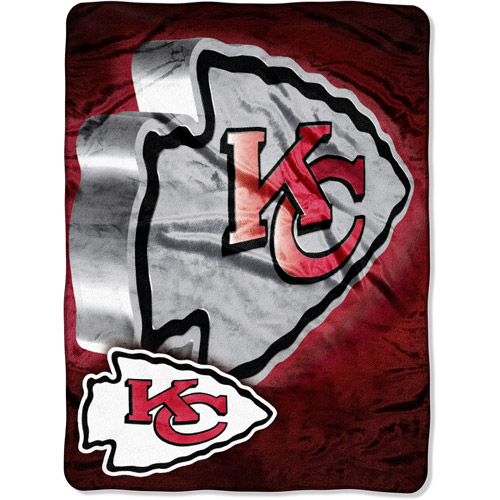 "NFL Bevel 60"" x 80"" Micro-Raschel Throw, Chiefs"