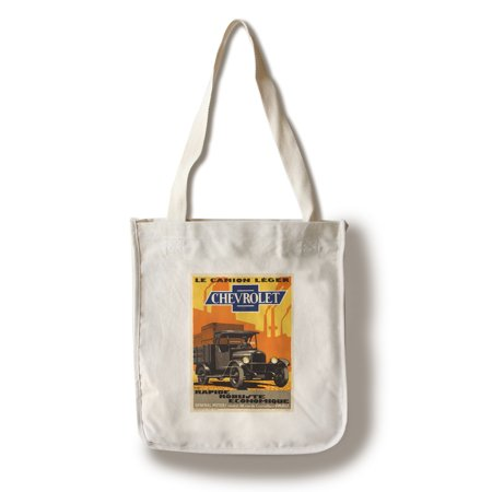 Chevrolet Vintage Poster (artist: Marc)  c. 1930 (100% Cotton Tote Bag - (Chevrolet Handbag)