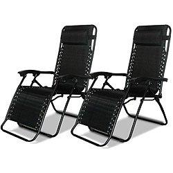 Caravan Canopy Black Adjustable Zero-gravity Chairs 80009...